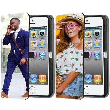 iPhone 4 & 4S - Coque Portefeuille Personnalisée (Sur L'avant)