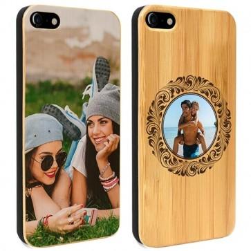 iPhone 7 - Coque Personnalisée en Bois de Bambou
