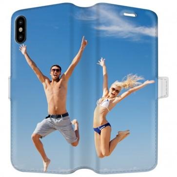 iPhone X - Coque Portefeuille Personnalisée (sur les 2 faces)