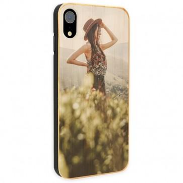 iPhone Xr - Coque Personnalisée en Bois de Bambou