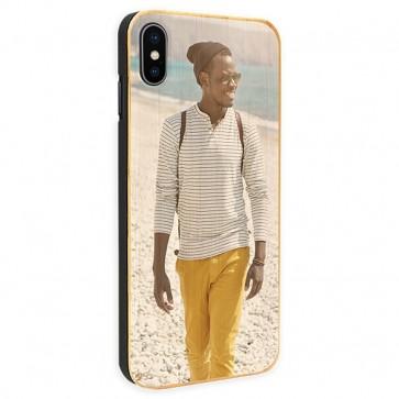 iPhone Xs Max - Coque Personnalisée en Bois de Bambou
