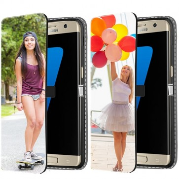Samsung Galaxy S7 - Coque Portefeuille Personnalisée (Sur L'avant)