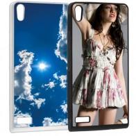 Huawei Ascend P6 - Coque personnalisée en silicone - Noire ou blanche