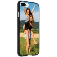 iPhone 8 PLUS - Coque personnalisée en silicone avec photo - Noir, Blanc ou Transparent