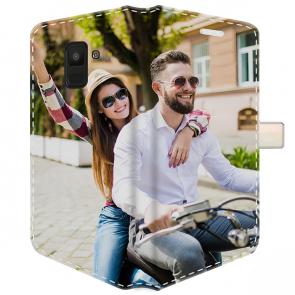 Samsung Galaxy A8 (2018) - Coque Portefeuille Personnalisée (Sur Les 2 Faces)