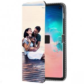 Samsung Galaxy S10 - Coque Portefeuille Personnalisée (Sur L'avant)