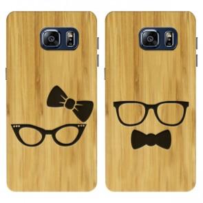 Samsung Galaxy S6 - Coque en bois de bambou avec un design gravé