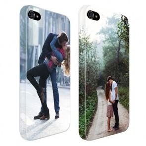 iPhone 4 en 4S - Coque Rigide Personnalisée à Bords Imprimés