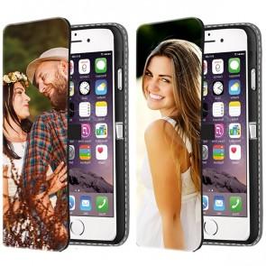iPhone 6 PLUS & 6S PLUS - Coque Portefeuille Personnalisée (Sur L'avant)
