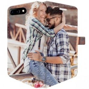 iPhone 7 PLUS & 7S PLUS - Coque Portefeuille Personnalisée (Sur Les 2 Faces)