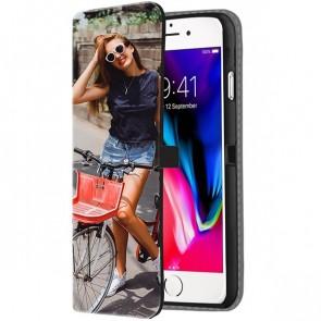 iPhone 8 PLUS - Coque Portefeuille Personnalisée (sur l'avant)