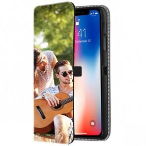 iPhone X - Coque Portefeuille Personnalisée (sur l'avant)