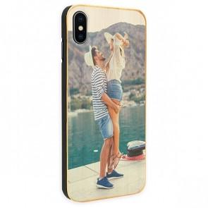 iPhone X - Coque Personnalisée en Bois de Bambou