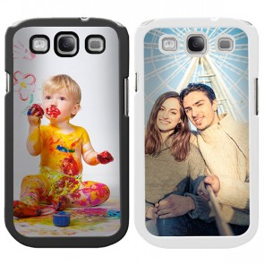 Samsung Galaxy S3 - Coque en silicone personnalisée - Blanche