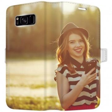 Samsung Galaxy S8 PLUS - Wallet Case Selbst Gestalten (Vollständig Bedruckt)
