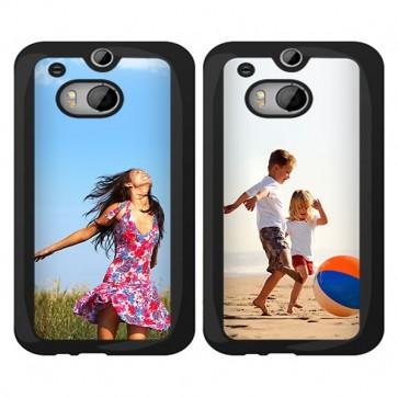 HTC One M8 - Handyhülle selbst gestalten - Hard Case - Schwarz