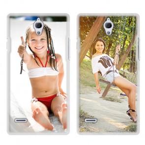 Huawei Ascend G700 - Handyhülle selbst gestalten - Hard Case - Weiß