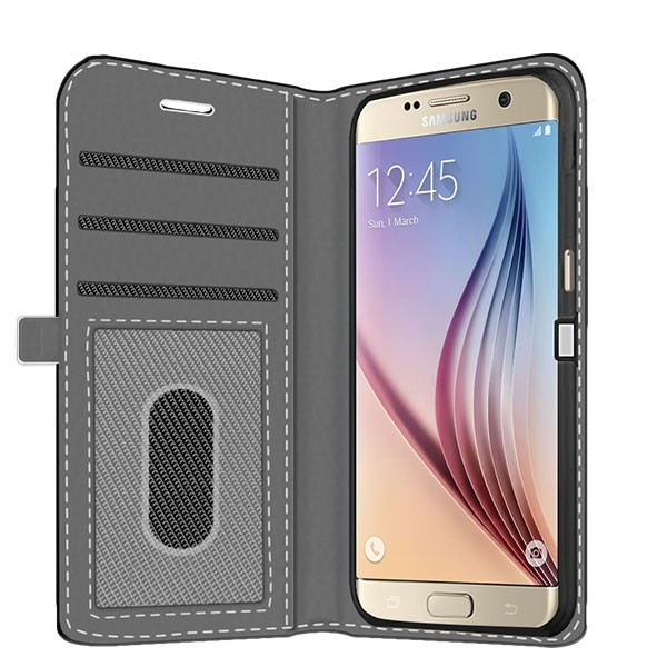 new styles 31728 a28ad Samsung Galaxy S6 Edge - Personalised Wallet Case (Front Printed)
