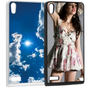 Huawei Ascend P6 - Personalised Silicone Case - Black or white