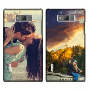 LG Optimus L7- Personalised hard case - Black or white