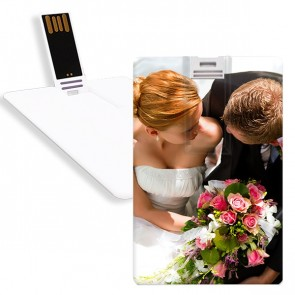 USB Card with Photo Design - 8GB - White