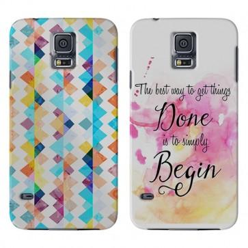 Samsung Galaxy S5 Mini - Rondom Bedrukt Hardcase Hoesje Maken