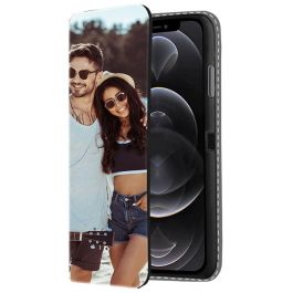 iPhone 12 Pro Max Personalised Front Printed Wallet Case