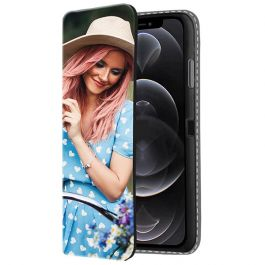 iPhone 12 Pro Personalised Front Printed Wallet Case