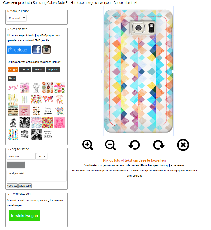 Personalised Samsung Galaxy Note 5 case