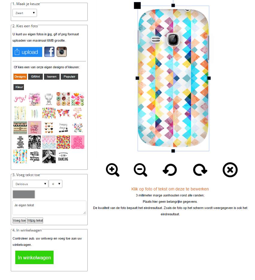 Samsung Galaxy Young Hardcase hoesje met foto