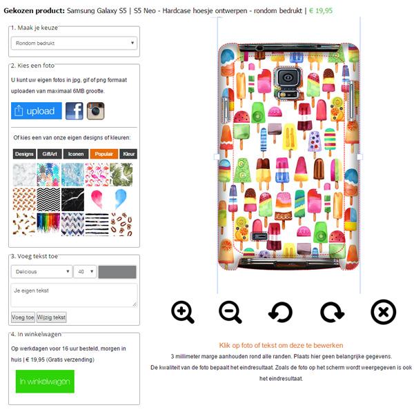 Make your own Samsung Galaxy S5 hard case
