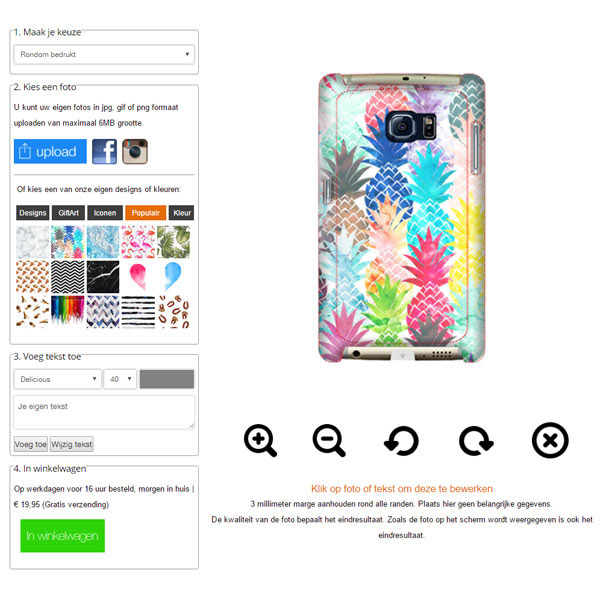 Samsung Galaxy S6 Edge PLUS Hardcase hoesje maken
