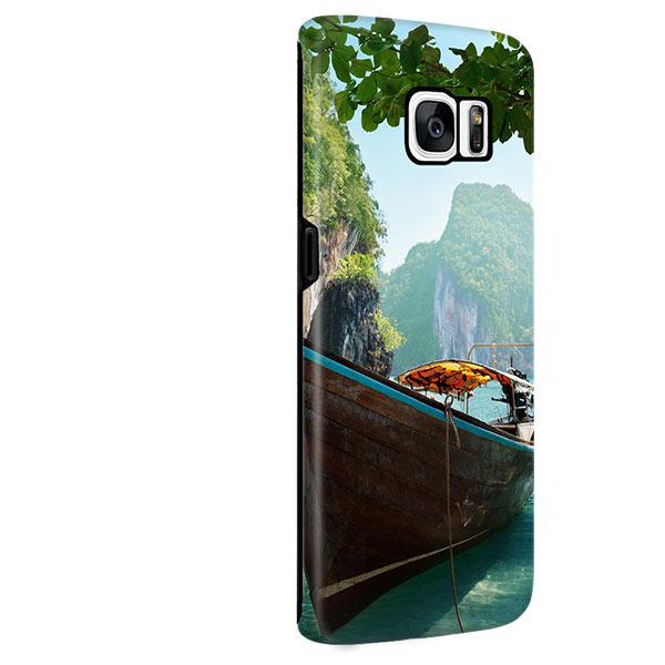 Coque personnalisée Galaxy S7 Edge sublimation 3D impression sur les côtés