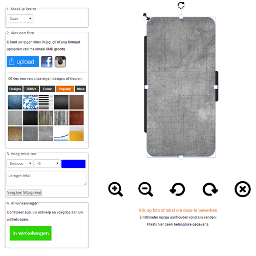 Galaxy S6 Portemonnaie Handyhülle mit Foto und Text