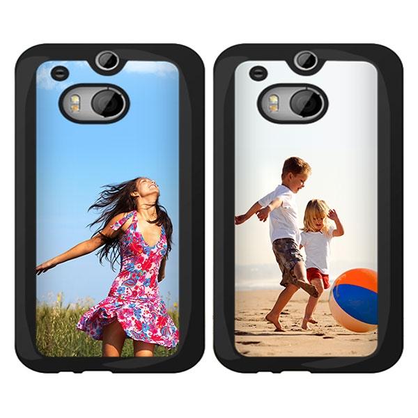 Afbeelding van HTC One M8 Hardcase hoesje ontwerpen Zwart