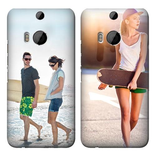 Afbeelding van HTC One M8 Rondom Bedrukt Hardcase Hoesje Maken