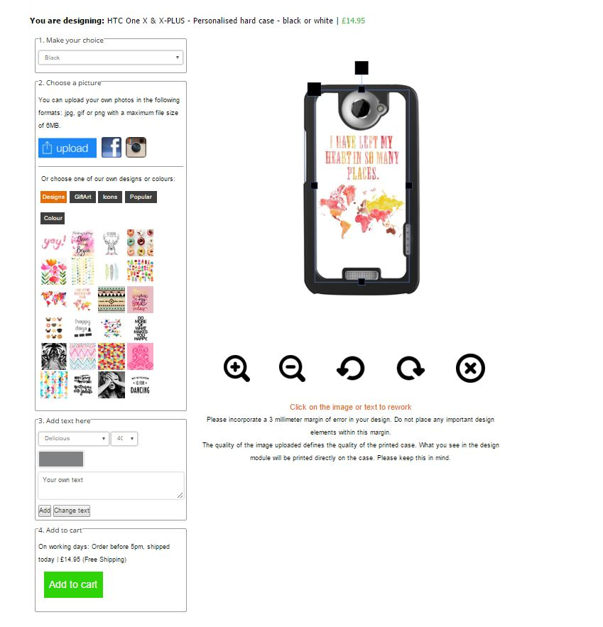Cover personalizzate HTC One X