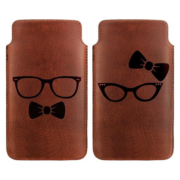 pochette téléphone cuir, étui personnalisé en cuir
