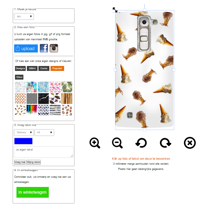 Make your own LG G4c Phone case