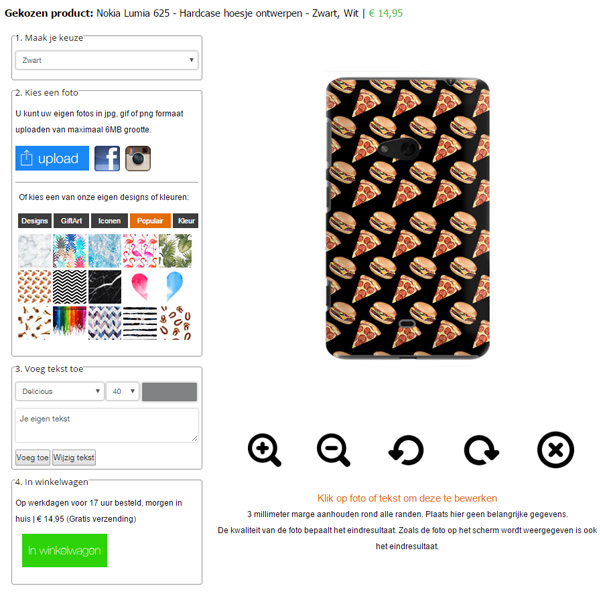 personalised Nokia Lumia 625 case
