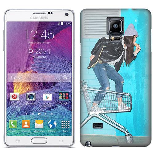 Coque personnalisée Samsung Galaxy note 4 impression sur la tranche