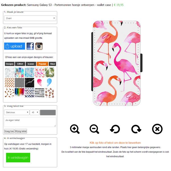 Samsung Galaxy S3 Portefeuille case