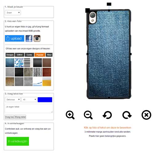 Design your own Sony Xperia Z3 + case