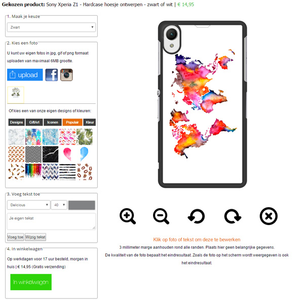 Personalised Sony Xperia Z1 phone case
