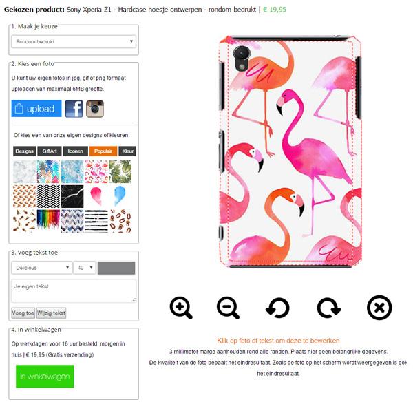 Creare cover Sony Xperia Z1