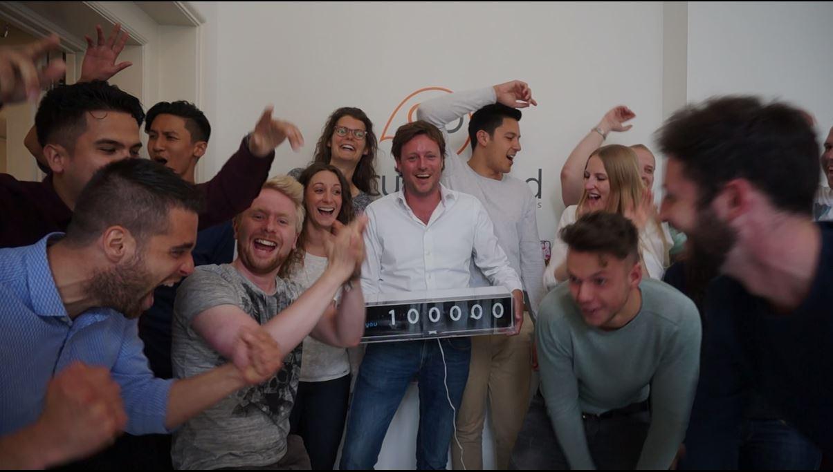 GoCustomized, a Dutch start-up company, reached 100,000 customers.