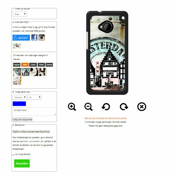 Personalized HTC One M9 phone case
